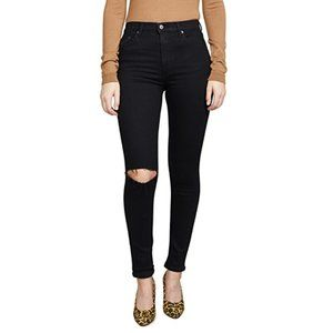 NWT Reformation High & Skinny Jeans Ripped Knee 28